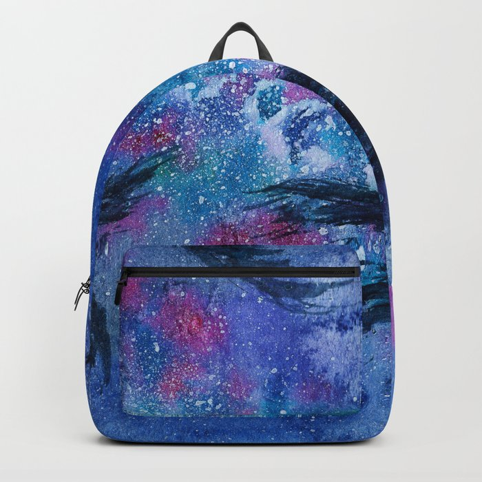 Under the stars || watercolor Backpack