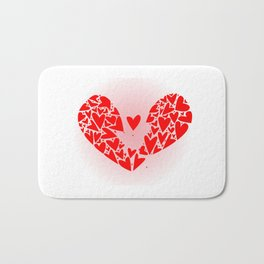 Broken Heart Bath Mat