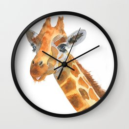 Cheeky Giraffe Wall Clock