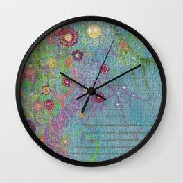 Art Journal 2 Whimsical Forest Wall Clock