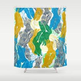 bodies texture Shower Curtain