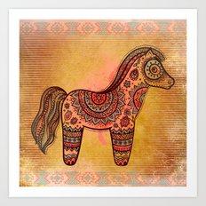 Ceremonial Indian Horse Art Print