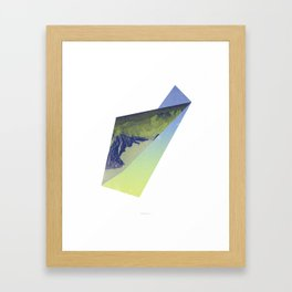 Triangle Mountains Framed Art Print