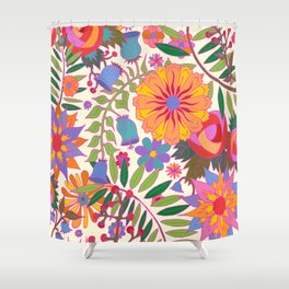 Just Flowers Lite Shower Curtain