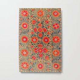 Kermina Suzani Uzbekistan Print Metal Print