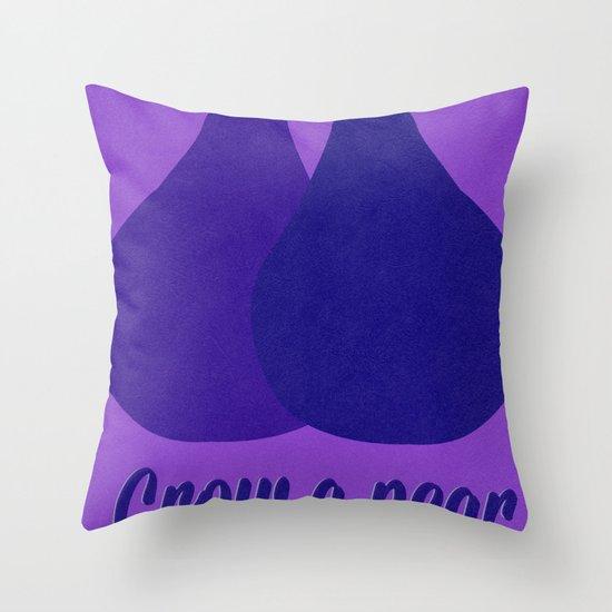 Grow a Pear Throw Pillow