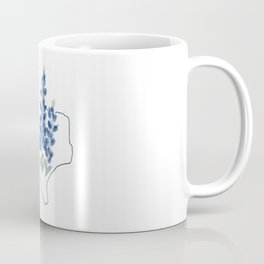 texas // watercolor bluebonnet state flower map Coffee Mug