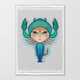 scorpio zodiac sign Canvas Print