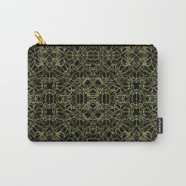 Golden Geo Tribal Pattern Carry-All Pouch
