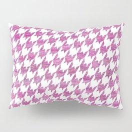 Pink Houndstooth pattern Pillow Sham