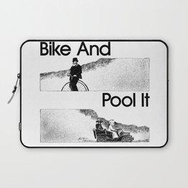 Bike And Pool It Laptop Sleeve