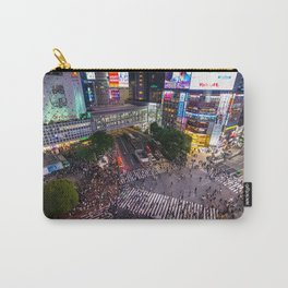 Crowd walking across Shibuya crossing in Tokyo, Japan Carry-All Pouch