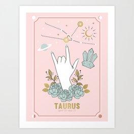 Taurus Zodiac Series Art Print