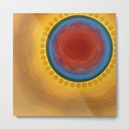 Circle the Orange Satellites Metal Print