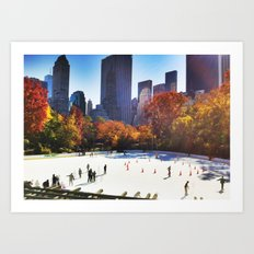 Skating in the park Art Print