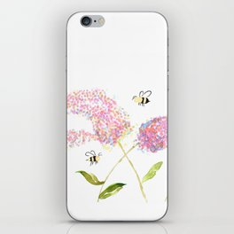 Of Buddleias & Bumble Bees iPhone Skin