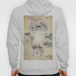 1943 Paper Indian Motor Company Drive Shaft for Motorcycles Patent Hoody