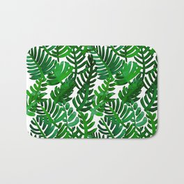 Round Palm Green Bath Mat
