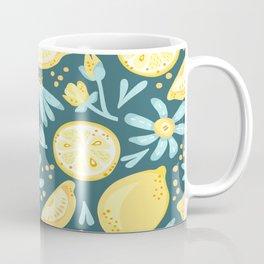 Lemon Pattern Green Coffee Mug