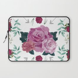 Floral Pattern with Arrows Laptop Sleeve