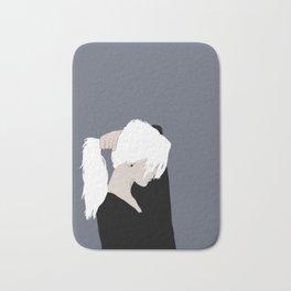 White Hair Beauty Bath Mat