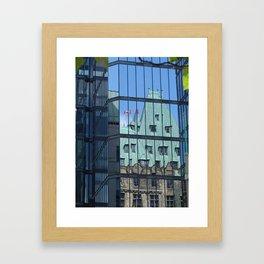 Maple leaf mirror Ottawa Framed Art Print