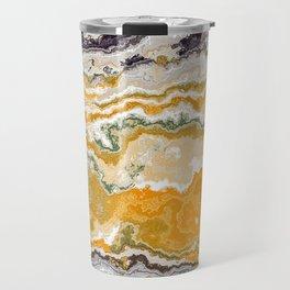 Orange marble texture Travel Mug
