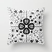 90s Throw Pillows featuring 90s Nostalgia  by shutupbek