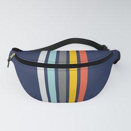 Colorful Vintage Stripes on blue Fanny Pack