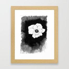 Inking Anemone Framed Art Print