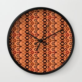 Ethnic ikat pattern.3 Wall Clock