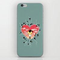 butterflies iPhone & iPod Skins featuring Butterflies by Freeminds
