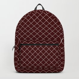 45º Small Grid Maroon Backpack