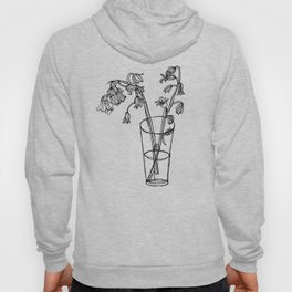 Bluebells Botanical Flower Illustration - Continuous Line Drawing - Floral Sketch Hoody