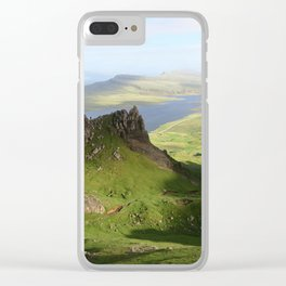 Green Hills Scotland - Travel Photo Clear iPhone Case