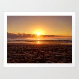 San Diego Sunset Art Print
