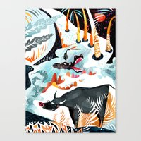 jungle Canvas Prints featuring Jungle by Adelina Mehmeti