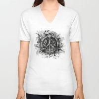 levi V-neck T-shirts featuring Levi Peace by A LITTLE FAITH SHOP