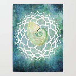 Shell Chakra Blue Poster