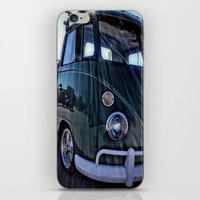 vw iPhone & iPod Skins featuring vintage vw by Joedunnz