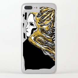 Golden wave Clear iPhone Case