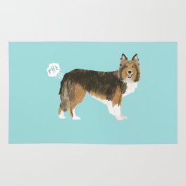 sheltie funny farting dog breed pure breed pet gifts Rug