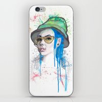 fear and loathing iPhone & iPod Skins featuring Fear and Loathing by Becca Douglas