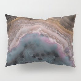 Multi colored agate slice Pillow Sham