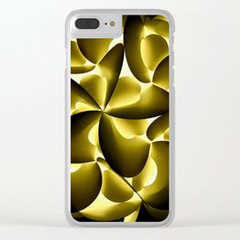 Modern Yellow & Black Clear iPhone Case