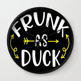 Funny Frunk as Duck graphic gift for Men design Wall Clock