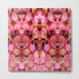 PEACH AND PINK BUBBLES Metal Print