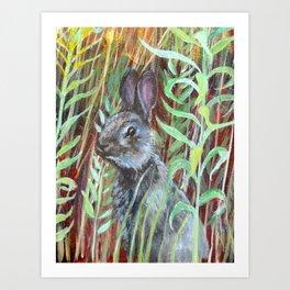 Rabbit detail Art Print