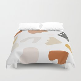 Abstract Shape Series - Autumn Color Study Duvet Cover