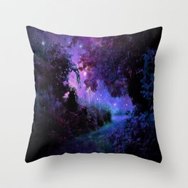 Fantasy Path Purple Throw Pillow